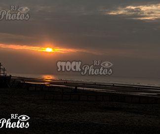 beach sunset & Sonnenuntergang