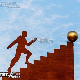athletes goal, career & Treppen aufsteigen