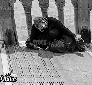beggar in Venice & Bettler in Venedig
