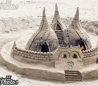 beach castle made of sand