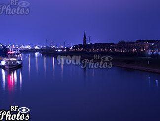 Mannheim Neckar at night